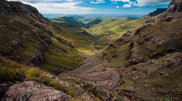 Sani Mountain Pass into Leshoto from the Southern Drakensberg